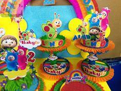 Baby Tv Cumpleaños, Baby Tv Cake, Birthday Cake, Birthday Parties, Ideas Para Fiestas, Little Babies, Princess Peach, Party Themes, Birthdays