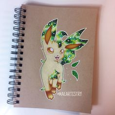 Finished Leafeon ✨ Currently working on Espeon next  ________ ‣ instagram.com/maeartistry ‣ facebook.com/marilynmaeart