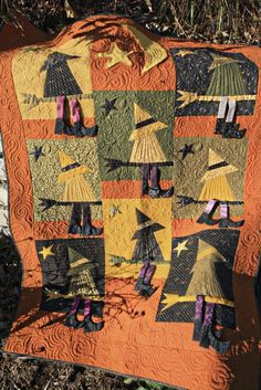 """Witch Quilt by Lori Kennedy. """"If The Hat Fits"""" pattern by The Buggy Barn."""