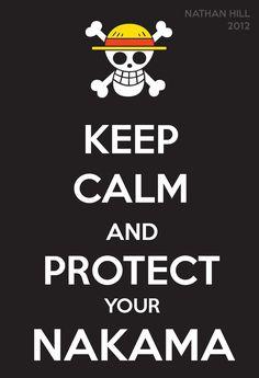 One Piece Keep Calm Monkey D. Luffy