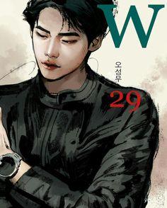 #wtwoworlds #wdoismundos #w #leejongsuk #kangchul #drawing #29