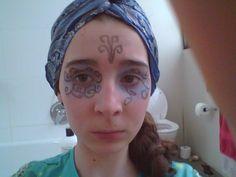 Bird/fairy make-up with turban bandanna wrap