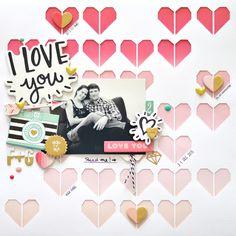 I love you by Flóra Mónika Farkas. Crate Paper Hello Love, The Cut Shoppe Half Hearted