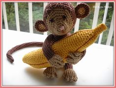 Gehaakt aapje en banaan