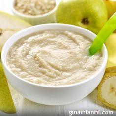 Papilla de frutas para bebés. Los bebés también necesitan variedad en su alimentación. Para los más pequeños, prepara esta receta de papilla de mandarina, plátano y pera.