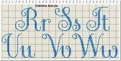 Cross Stitch Letters, Cross Stitch Art, Cross Stitch Embroidery, Crotchet Patterns, Stitch Patterns, Embroidery Floss Crafts, Crochet Alphabet, Needlepoint Stitches, Charts And Graphs