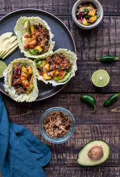 Slow Cooker Korean Pork Cabbage Cups Healthy Pork Recipes, Pork Sausage Recipes, Whole Food Recipes, Healthy Food, Healthy Eating, High Protein Snacks, Slow Cooker Pork, Slow Cooker Recipes, Slow Cooking