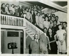 1940's shot at the The Wilfandel Club. The oldest African-American women's club in Los Angeles. Our family's grandfather is the first person standing on the bottom of the stairs. A local medical doctor and past LAUSD school physician: Alpha Phi Alpha Fraternity, Inc.