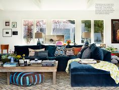 Rachel Bilson's Living Room via Lonny