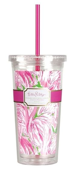 LILLY PULITZER - Tumbler with Straw - Pink Colony - Acrylic 20 oz  | Home & Garden, Kitchen, Dining & Bar, Drink Containers & Thermoses | eBay!