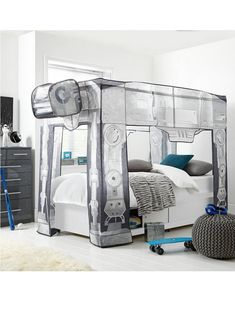 Womens Mens and Kids Fashion Furniture Electricals & More - Star Wars Men - Ideas of Star Wars Men - ReadyRoom Star Wars AT-AT Bed Canopy Star Wars Bedroom, Star Wars Nursery, Bedroom Themes, Kids Bedroom, Bedroom Decor, Bedroom Ideas, Star Wars Decor, New Room, Furniture