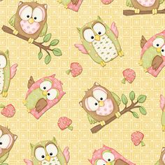 Henry Glass & Co You Whoo PINK OWLS by NauvooQuiltCo on Etsy