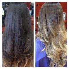 Heather Cha Styles - Irvine, CA, United States. Before & after !!:) what a transformation!! Ombre/balayage