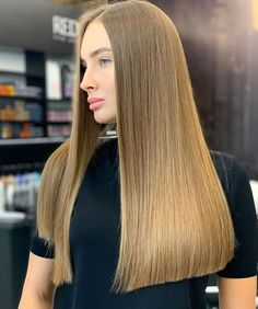 Blunt Haircut With Layers, Blunt Cut Long Hair, Long Blunt Haircut, Long Length Haircuts, Blunt Cuts, Hair Without Layers, Straight Up Hairstyles, One Length Hair, Shoulder Haircut