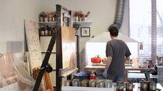 Alexandre Masino : portrait d'artiste ENCAUSTIQUE EN FRANCAIS