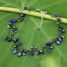 Pearl and lapis lazuli choker, 'Ethereal'. Shop from #UNICEFMarket and help save the lives of children around the world.