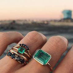 Marrow Fine - Shop Bespoke Fine Jewelry - We're obsessed with how emeralds an. - Marrow Fine – Shop Bespoke Fine Jewelry – We're obsessed with how emeralds and black diamond - Cute Jewelry, Jewelry Art, Gemstone Jewelry, Jewelry Accessories, Jewelry Design, Fashion Jewelry, Women Jewelry, Black Diamond Jewelry, Jewellery Sale