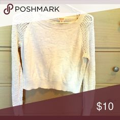 Beige cream thin sweater with fishnet arm sleeves Beige cream thin sweater with fishnet arm sleeves Mossimo Supply Co. Sweaters