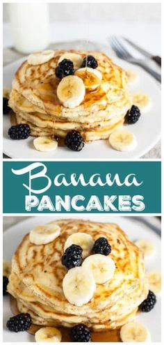 Old-Fashioned Banana Pancakes - - - Pancake Recipe Easy - Pancake Recipes New Year's Desserts, Peanut Butter Desserts, Party Desserts, Christmas Desserts, No Bake Desserts, Delicious Desserts, Dessert Recipes, Pancake Recipes, Christmas Brunch