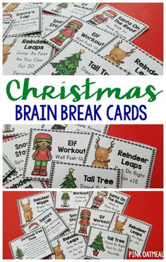 Christmas brain break cards are perfect for a holiday brain break! Use these for classroom brain breaks, preschool gross motor, or physical education. Gross Motor Activities, Therapy Activities, Preschool Activities, Movement Preschool, Speech Activities, Preschool Curriculum, Homeschooling, Halloween Activities, Christmas Activities