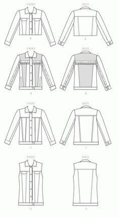Free pattern PDF download - denim jacket   Clothing I love