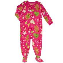 Christmas Microfleece Pajamas - toddler girls