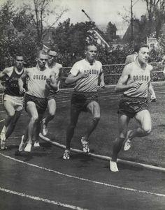 1961-62 Oregon track meet. From the 1962 Oregana (University of Oregon yearbook). www.CampusAttic.com