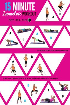 Try this quick 15-minute workout using isometric exercises.