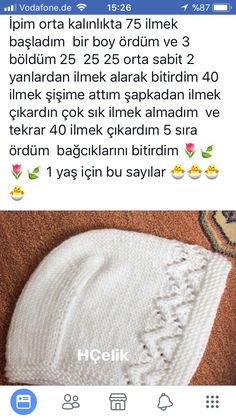 Good evening, a happy day I wish to go out Greetings . ı I tried to explain the construction of the hat and the number briefly, Hayır Baby Knitting Patterns, Baby Hats Knitting, Knitting For Kids, Crochet For Kids, Knitting Socks, Knitted Hats, Crochet Bebe, Knit Crochet, Crochet Hats