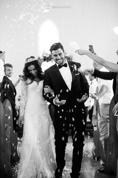 Bride & Grom Leaving The Wedding Ceremony - Lovely Picture Perfect Wedding, Dream Wedding, Wedding Day, Wedding Ceremony, Wedding Goals, Wedding Pictures, Wedding Photography Inspiration, Wedding Inspiration, Style Inspiration
