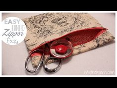 (131) EASIEST Lined Zipper Bag | How to | Whitney Sews - YouTube