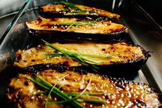 Miso Caramelized Eggplant #MADE just did soy sauce, a little Chinese mustard, and sugar for sauce. Good enough to fulfill my craving for the eggplant miso from tsunami!