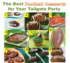 The best football desserts for your tailgate party.
