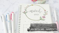 Bullet Journal | Plan With Me March 2017