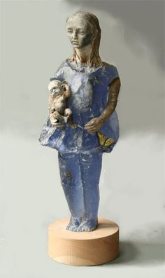 Anatomical Doll with  Baby  cast glass, racu clay, oil paints.        Christina Bothwell :: Obsolete