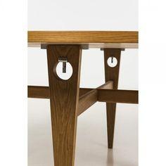 Hans Wegner (1914-2007), Table, Oak and metal Getama Edition, Stamped, Date…