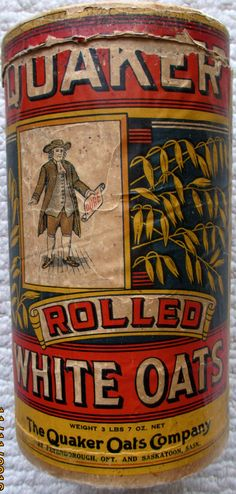 Tin Cans, Rolled Oats, Tins, Vintage Advertisements, Wwii, Rolls, Container, Canning, Antiques
