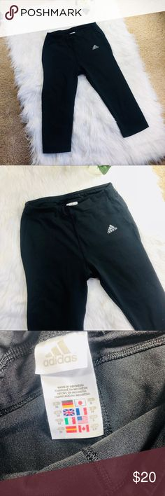 Adidas Climacool black Workout Capris Adidas Climacool Workout Capris In black color. Great condition. Size small, very small - I'd say would fit XS. Bundle and make an offer to save! :) adidas Pants Capris