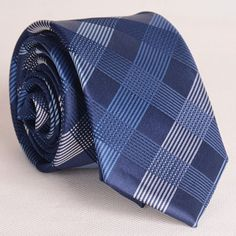 Sophisticated Parti-Colored Cross Stripe Pattern Thin Neck Tie For Men #CLICK! #clothing, #shoes, #jewelry, #women, #men, #hats, #watches