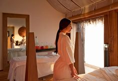 Hotel & Resorts Wooden Resort Spa Decor In 5 Star Constance Moofushi Resort In Maldives Romantic Constance Moofushi Resort : Maldives being a Pretty Nature