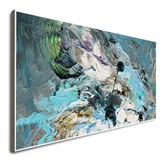 Amazon.com: Abstract Painting Framed Wall Paintings 3D Painting Horizontal Canvas Art Large Canvas Art Canvas Art Large Art Original Painting: Handmade