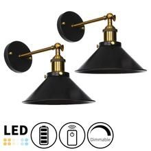 Battery Wireless Retro Wall Sconce Adjustable Arm Remote Dimmable Decorative Light Battery Operated Wall Sconce Wireless Wall Sconce Wall Sconces Bedroom Battery operated wall sconces lighting
