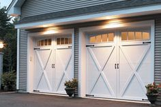 Our garage door model 167T is made with an insulated steel construction and fashioned to resemble the elegant wood designs of traditional carriage house doors. They have the beauty of wood, the durability of steel and a classic design to enhance the architectural beauty of your home. Choose from a broad selection of windows and hardware options to further customize the look of your garage door.