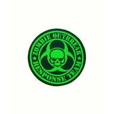 """Zombie Outbreak Response Team"" hihamerkki (vihreä)"