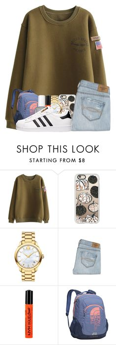 """""""favorites tag!"""" by glitter-in-my-hair ❤ liked on Polyvore featuring Casetify, Movado, Abercrombie & Fitch, NYX, The North Face and adidas"""