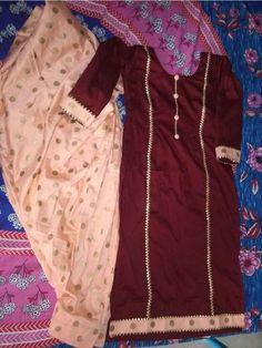 Party Wear Indian Dresses, Indian Fashion Dresses, Indian Designer Outfits, Pakistani Dresses, Stylish Suit, Stylish Dresses, Hijab Outfit, New Suit Design, Neck Design