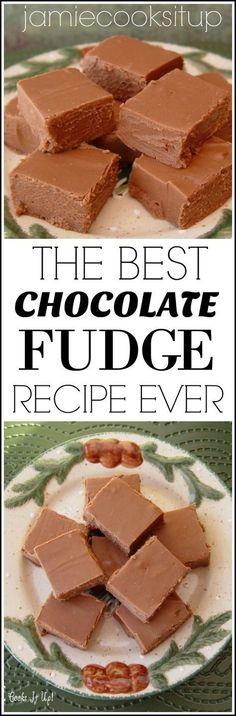 Fudge The best Chocolate Fudge Recipes Ever from Jamie Cooks It Up!The best Chocolate Fudge Recipes Ever from Jamie Cooks It Up! Candy Recipes, Sweet Recipes, Baking Recipes, Cookie Recipes, Dessert Recipes, Just Desserts, Delicious Desserts, Yummy Food, Healthy Desserts