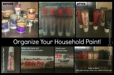 Silver Lining Organizers, LLC: Organizing Household Paint with Paint Tubes!