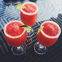 Drinks on point #drink #daiquiri #strawberry #summer #chill #vaccay #goodvibes #friends #lush