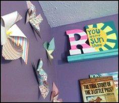DIY Paper Pinwheels in less than 1 min! Plus little girl (or boy) reading nook tutorial.